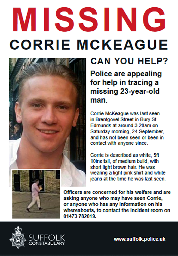 Missing Corrie McKeague